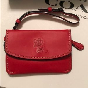 Coach Mickey Envelope Key Purse, NWT